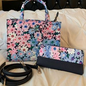 Kate spade daisy tote and matching wallet